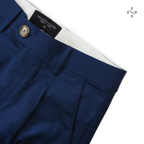 NEWTON CHINO PANTS - NAVY (High Waist)