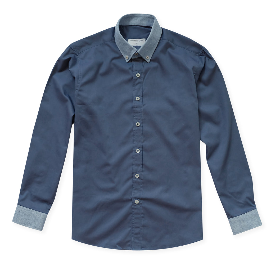 CLOUD TWILL SHIRT - BLUE