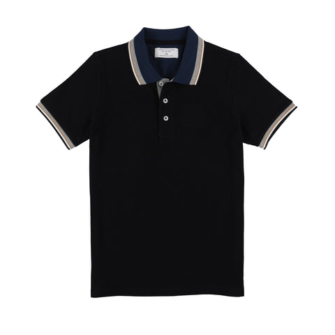CLAY POLO TEES - BLACK
