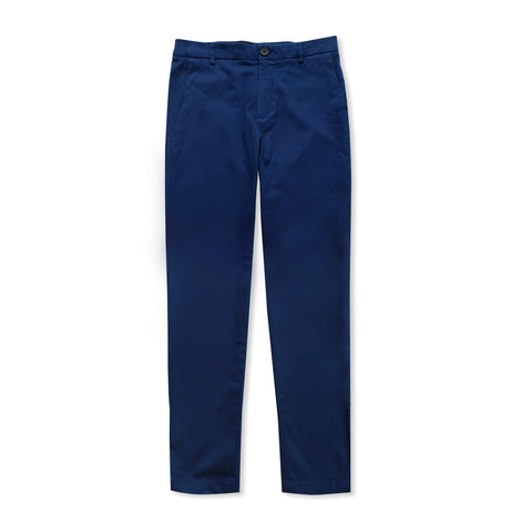 STRETCH CHINO PANTS - NAVY