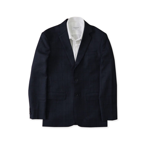 BRIT SQUARE WOOL SUIT - DARK BLUE