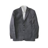 BRIT SQUARE WOOL SUIT - GREY