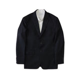 BRIT STRIPE WOOL SUIT - BLACK