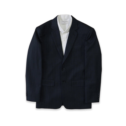 BRIT STRIPE WOOL SUIT - DARK BLUE