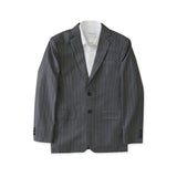BRIT STRIPE WOOL SUIT - GREY
