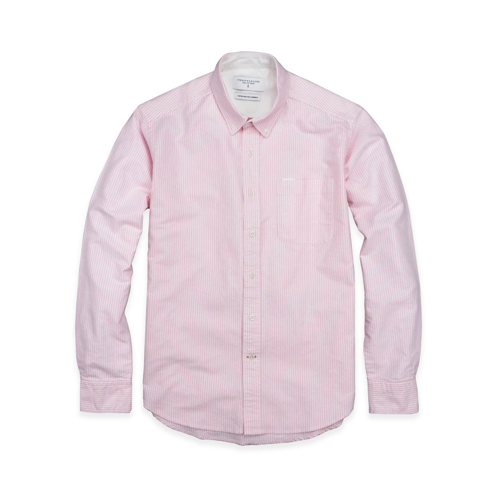 BROOK OXFORD SHIRT - PINK STRIPE