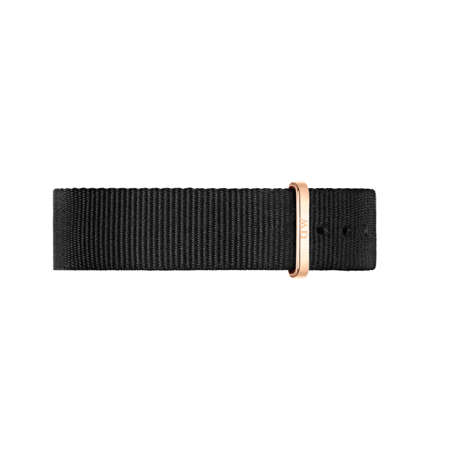 Wristband Classic Black Cornwall Rose gold 36mm