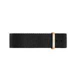 Wristband Classic Black Cornwall Rose gold 40mm