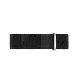 Wristband Classic Black Cornwall Silver 40mm