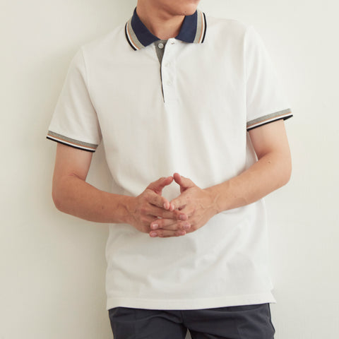 CLAY POLO TEES - WHITE