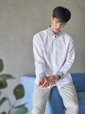 CLOUD TWILL SHIRT - WHITE