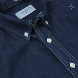 DENIM DETACHABLE COLLAR SHIRT - NAVY