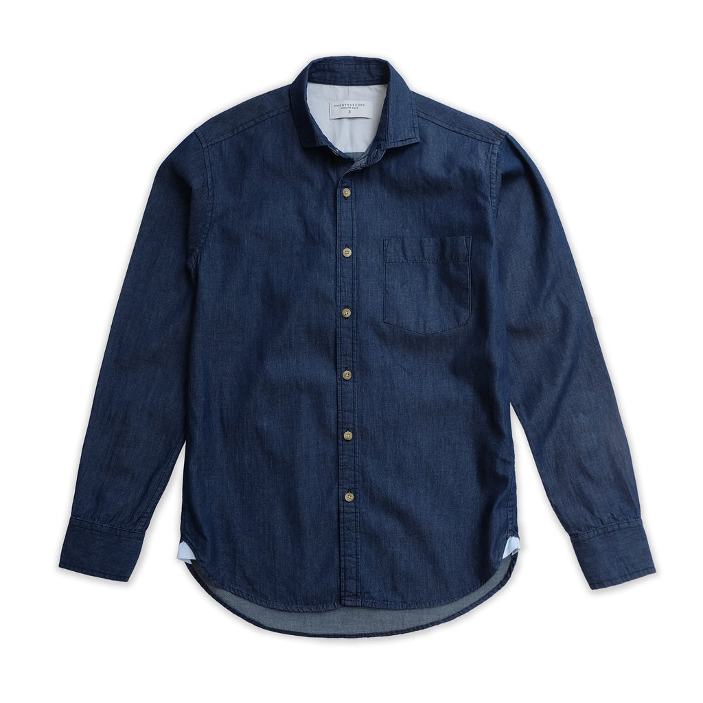 WEEKEND CHAMBRAY SHIRT - DENIM NAVY