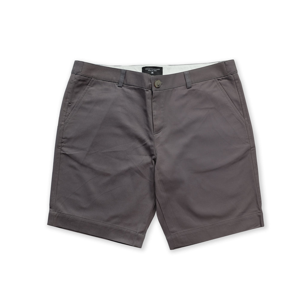 VIKTOR CHINO SHORTS - GREY (REGULAR SHORTS)