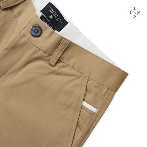 FOSTER CHINO PANTS - BROWN X