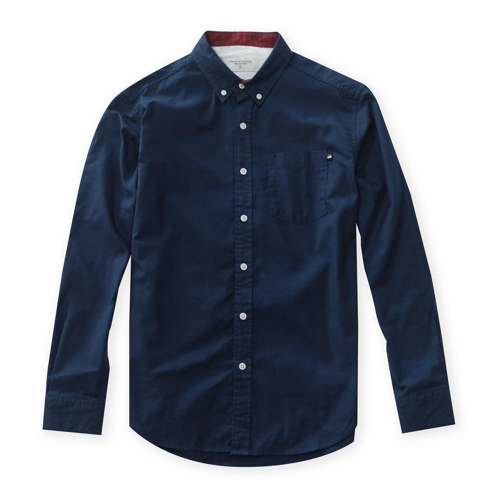 OXFORD RIBBON SHIRT - DARK BLUE