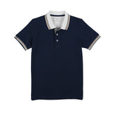 CLAY POLO TEES - NAVY