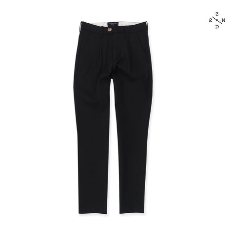NEWTON CHINO PANTS - BLACK (High Waist)