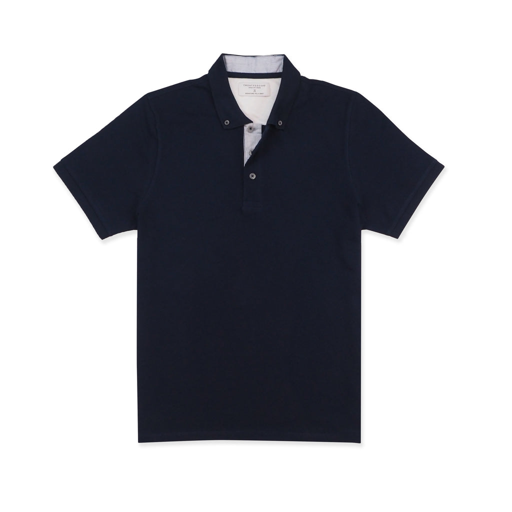 DRIP POLO TEES - NAVY