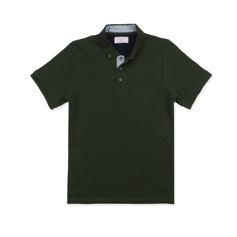 DRIP POLO TEES - OLIVE