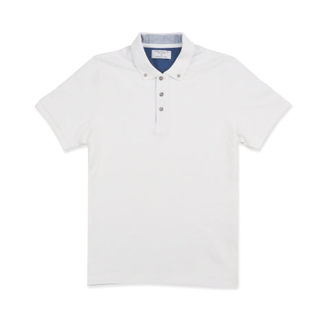 DRIP POLO TEES - WHITE