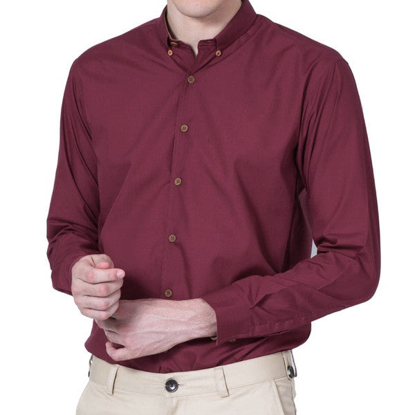 CLASSIC RED COTTON SHIRT