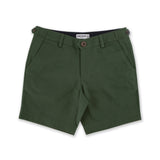SIGNATURE CHINO SHORTS-OLIVE GREEN