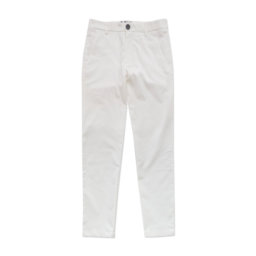 STRETCH CHINO PANTS -WHITE