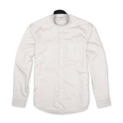 QUIN BAND COLLAR SHIRT - WHITE
