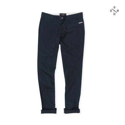 FOSTER CHINO PANTS - NAVY X