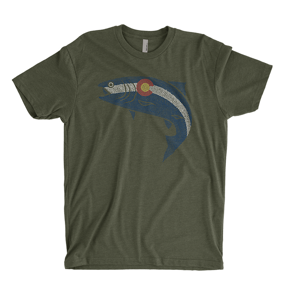 Colorado Pointillism Fish T-Shirt