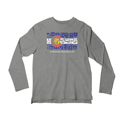 Colorado Bucket List Long Sleeve T-Shirt