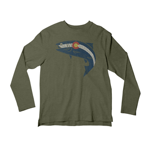 Colorado Pointillism Fish Long Sleeve T-Shirt