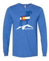 Mountain View CO Flag Bighorn Unisex Long Sleeve T-Shirt