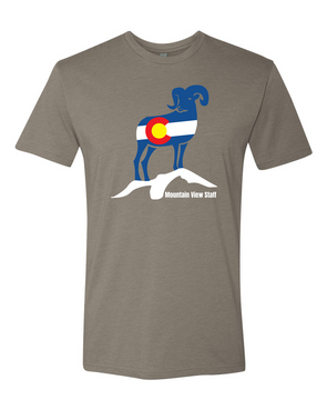 Mountain View CO Flag Bighorn Unisex Short Sleeve T-Shirt