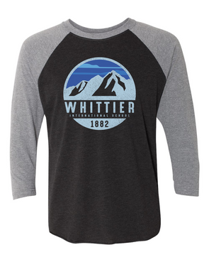 Whittier Mens 3/4 Sleeve Raglan