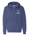 Mountain View CO Flag Bighorn Unisex Midweight Full-Zip Hooded Sweatshirt