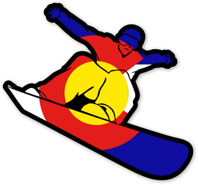 Colorado Snowboard sticker