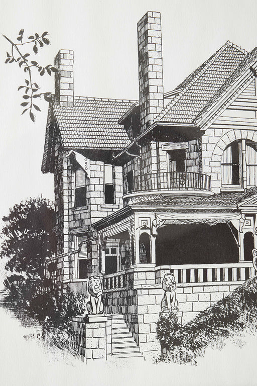 Molly Brown House Etching