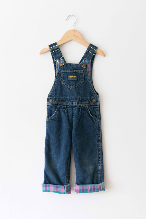 Kids Flannel Lined Osh Kosh Denim Overalls