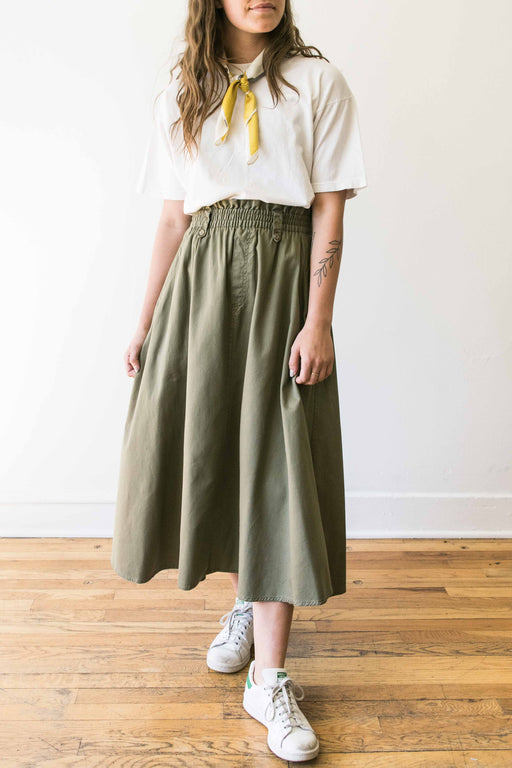 Olive Lizwear Cinched Waist Skirt