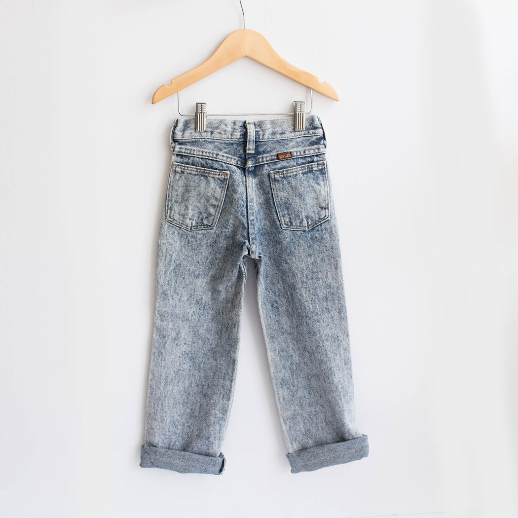 Kid's Rustler Acid Wash Denim