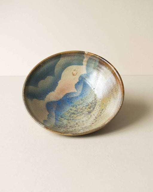 Blue + Brown Glazed Bowl