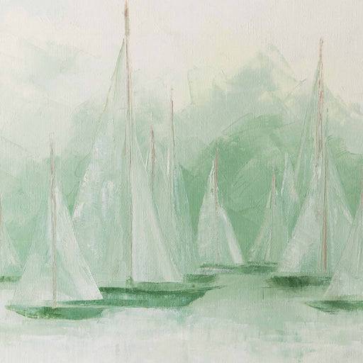 Signed Original Sailboat Oil Painting