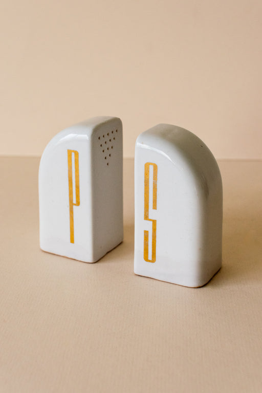 Art Deco Salt + Pepper Shakers