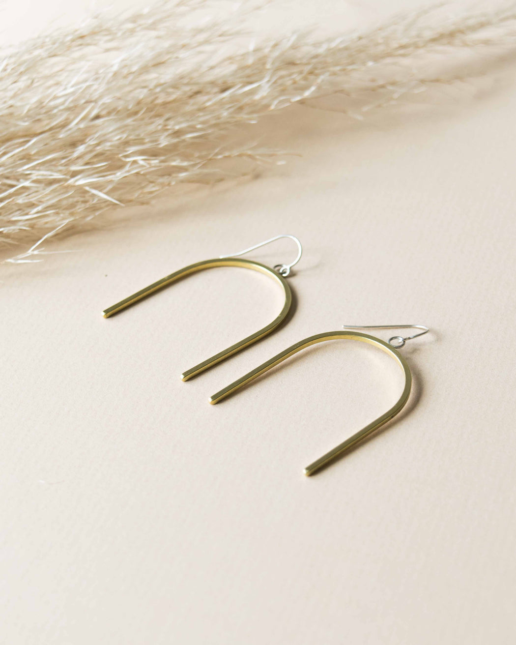 Ellen Mote Jewelry - Brass Tetra Earrings