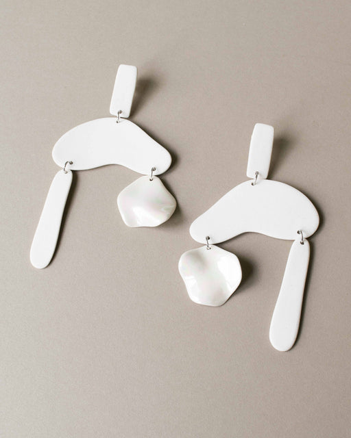 Cloud Burst Earrings - Four Eyes Ceramics