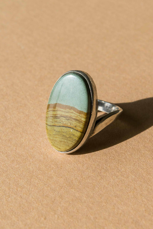 Picture Jasper Sterling Silver Ring Size 7