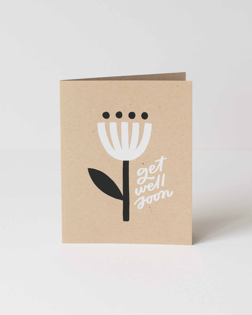 Worthwhile Paper - Get Well Soon Minimal Flower Card