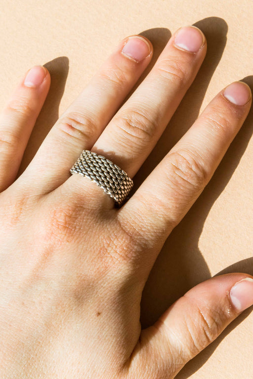 Tiffany Mesh Ring Size 8